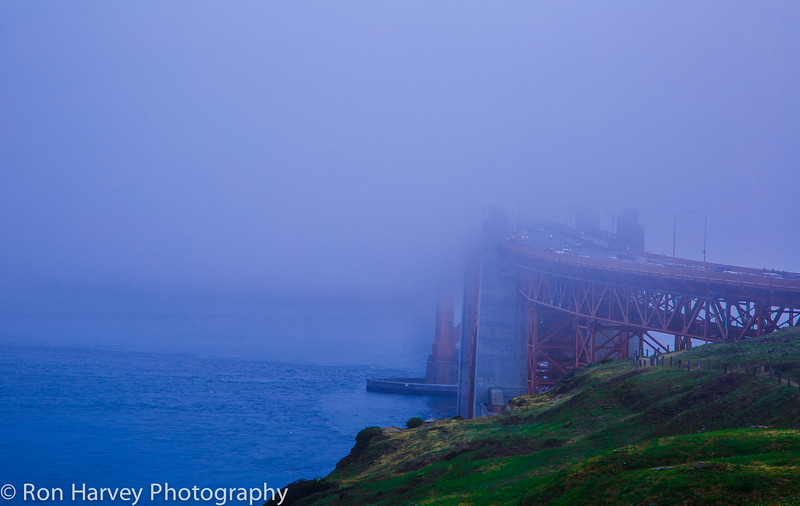 Golden Gate Bridge at 7:30am
