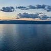 Panoramic View of Shaman Rock at Sunset, Island of Olkhon, Lake Baikal, Russia
