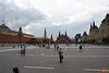 Red Square, Kremlin wall on the left, State History Museum in the background and GUM mall on the right. IMG_5815