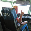 09/30/13: Diane in the Flight Commander's chair.