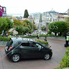 The winding Lombard street on Russian Hill in San Francisco, California.