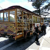 A trolley on the street of San Francisco, California.
