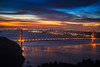 San Francisco City Scape-6187  The sky canvas came alive as the sun began to rise. Darkness became light as spectacular reddish and blue hues began to form. Photographers call this the magic hour.