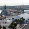The USS Iowa Battleship at the Port of Los Angeles in San Pedro, California.
