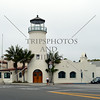 A lighthouse design building in Santa Barbara, California.