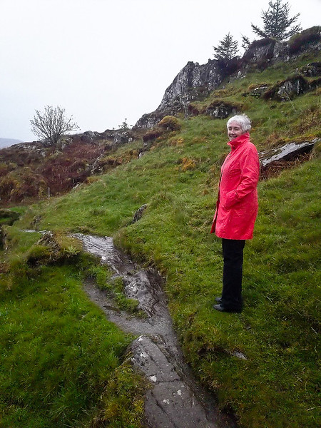 We were interested in Dunadd an Iron Age fort and stronghold near Kilmartin. But the rain and slippery slope stopped us.
