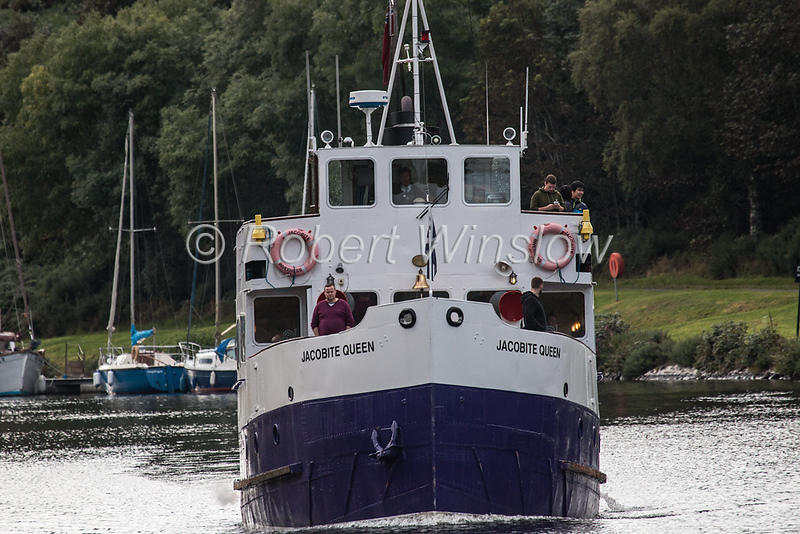 Jacobite Queen, Caledonian Canal; Great Glen, Scottish Highlands, Scotland, United Kingdom, Europe