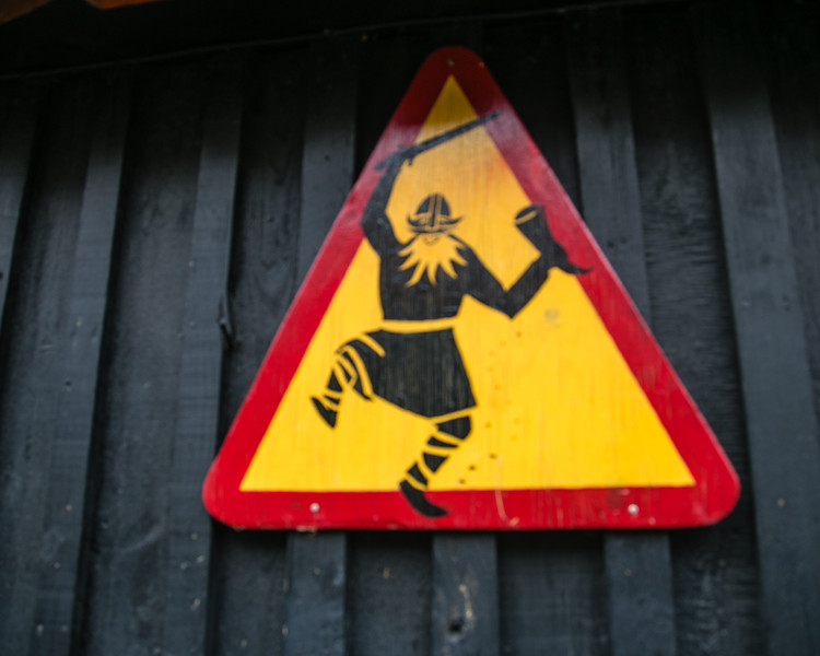Caution.  Viking Crossing.