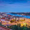 Bratislava, Slovakia. Panoramic image of Bratislava, the capital city of Slovak Republic.