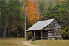 The Carter Shields cabin in Cades Cove. Fall 2009.