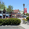 A street and building architecture views in Solvang, California.