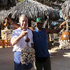 Robert & man who made seashell windchime
