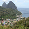 Soufriere and the Pitons, St. Lucia, 4-10-2012