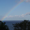 Rainbow over the Caribbean Sea the morning we were leaving St. Luica (A)
