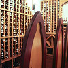 The chairs around the tasting table in the Ti Kaye Village Resort's wine cellar (A)