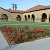 Courtyard at Stanford University campus in Stanford, California.