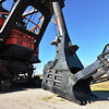 Shovel holds 90 cubic yards, 300,000 pounds of earth.