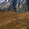 Starting the descent to Rifugio Bertone