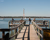 Fishing pier at North Beach Camp Resort, St. Augustine - Just a few steps away from our RV