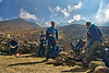 Marius, Michelle, Andrew, Natasha<br /> take a breather on the way from DingBoche to Lobuche