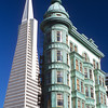 The Transamerica Pyramid and Columbus Tower<br /> San Francisco, California