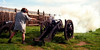 USA - CA - Fort-Ross - Carl Pezold and cannon