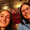 Lexie and Audrey's selfie just before Les Miserables musical.  UK Vacation 2014-07-07