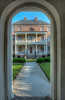• Location -Charleston, SC<br /> • Joseph Manigault House framed by the entrance structure