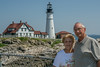 • Location - Cape Elizabeth, ME<br /> • Sandy and I posing in front of the lighthouse