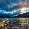 Lake Crescent at sunset