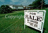 West Palm Beach, FLA, U.S.A. - Single Family House, with For Sale Sign in Front.