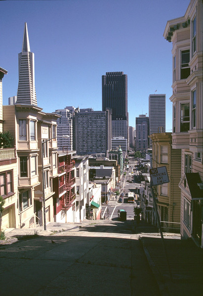 San Francisco cityscape view from Kearny Street