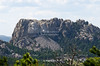 Mount Rushmore from a distance - seen from the Peter Norbeck Overlook on the scenic Iron Mountain Road, Black Hills, South Dakota, USA