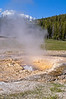Pump Geyser is a cone geyser in the Upper Geyser Basin of Yellowstone National Park, Wyoming, USA