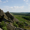 Looking south down the Burbage valley from Burbage North