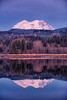 Mt. Rainier and Alder Lake near sunset.  WA