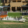 Large chess board at the Canyons Resort.