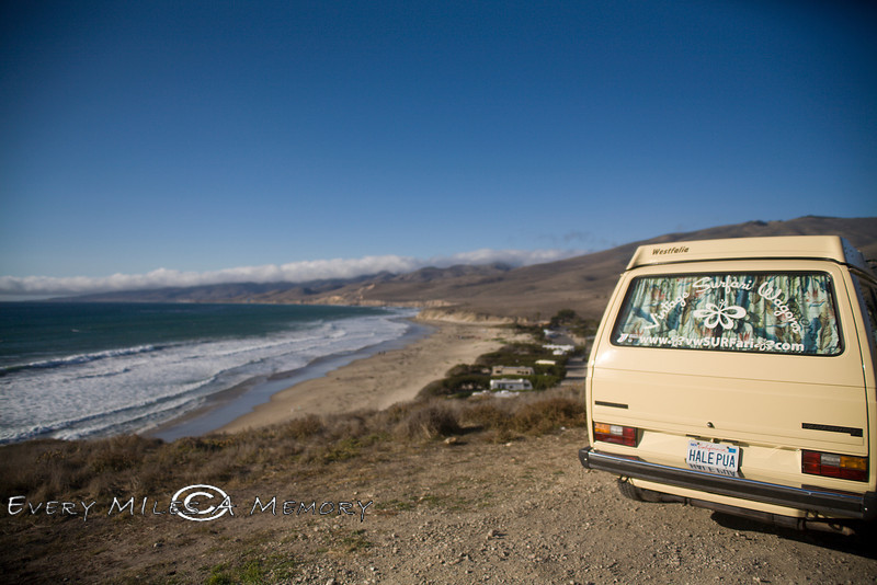 Sitting High above Jamala Beach, Lompac California - Photo by Pat Bonish