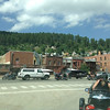 August 5 - We drove down to Deadwood, which sits in a valley with steep sides. The place was full of cyclists who were there for the Sturgis Motorcycle Rally. We went to the cemetery to see Buffalo Bill's and Calamity Jane's graves.