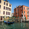 Beautiful charming architecture along Grand canal, Venice, Italy
