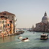 Grand canal with Basilica di Santa Maria della Salute in the background, Venice, Italy