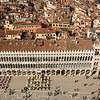 Aerial view on square San Marco from campanile, Venice, Italy