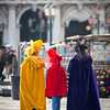 Candid photo from venetian carnival 2014, Venice, Italy