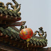 roof dragons and lanterns