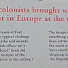 Signage: English Colonists - Casemate Museum, Fort Monroe - Hampton, VA<br /> Click on the photo to get an enlarged image to read.