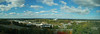 Panorama from our room at the Hyatt Fair Lakes (Virginia).