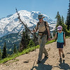 On Sourdough Ridge Trail. Mount Rainier in the background. Sunrise, Mount Rainier National Park