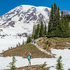 On the Skyline Trail above Altavista. Paradise, Mount Rainier National Park