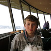 "Alex enjoying his ""Moon Landing"" dessert on the Space Needle in Seattle, Washington."