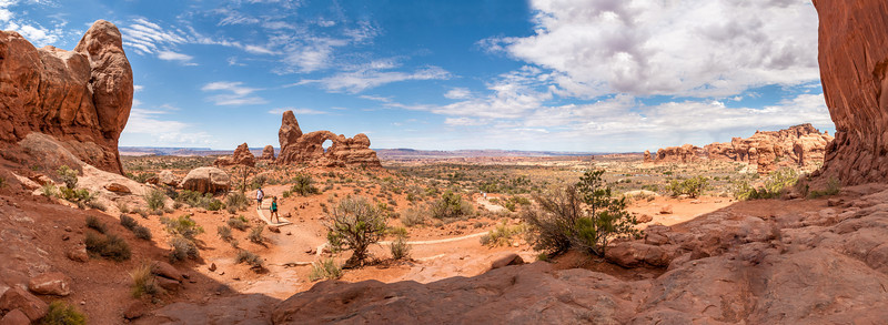 Turret Arch & Parade of Elephants from North Window, Arches National Park, Utah
